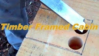 Trees To Timber Frame Cabin Off-grid Homestead Project First Sill Pt 1