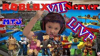 ROBLOX LIVE VIP SERVER w/Fans KID GAMER MinetheJ Murder Mystery 2 Let's Play No Profanity
