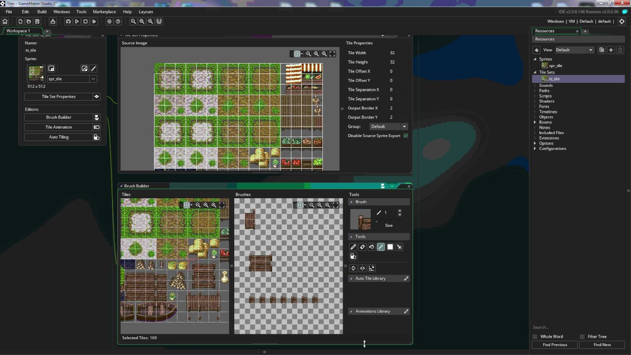 gamemaker studio 2 tiles and tilesets youtube