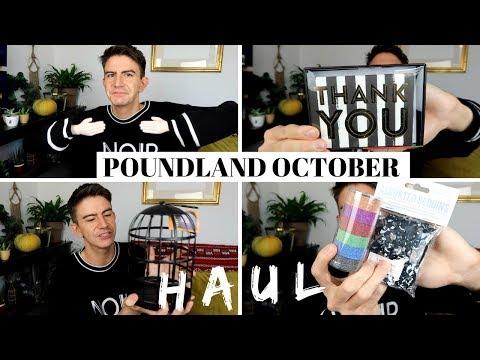 POUNDLAND HAUL OCTOBER 2018 | HALLOWEEN & RANDOM