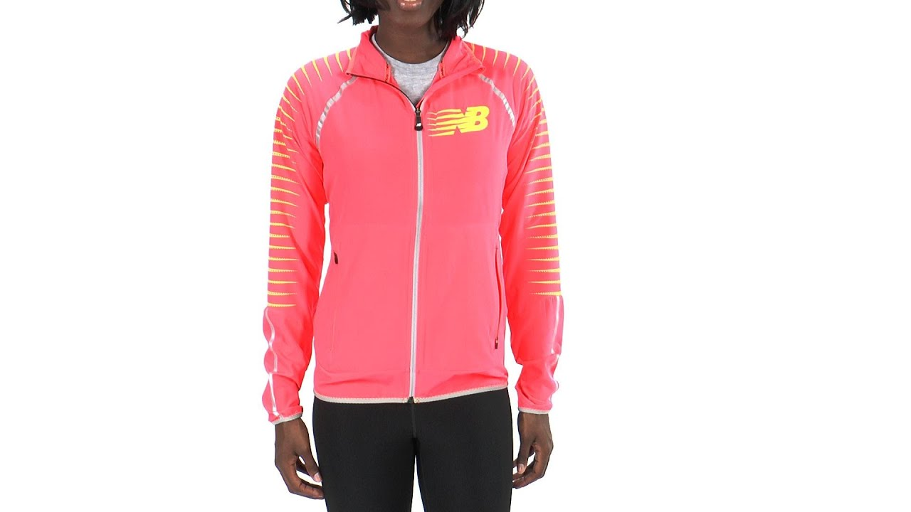 san francisco cbef8 2e247 New Balance Women's Hi-Viz Beacon Running Jacket ...