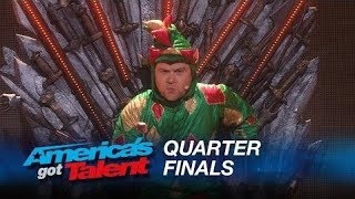 Piff The Magic Dragon: Howie Mandel's Dangerous Game With Magician - America's Got Talent