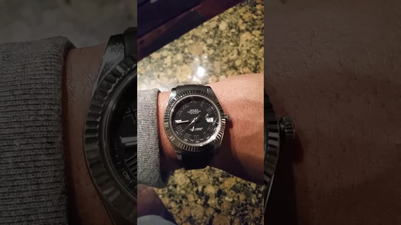 Rubber B Band On Rolex Datejust2 41mm Youtube