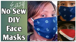 NO SEW DIY Face Mask | How To Quick & Easy | Dollar Tree DIY | Homemade Face Covering