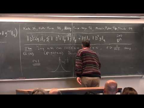 Loukas Grafakos - February Fourier Talks 2015 - Fractional differentiation: Leibniz meets Hölder