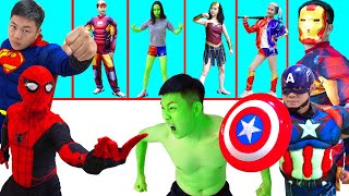 Superheroes Epic Battle : Hulk vs Spiderman vs Superman vs Iron man vs She-Hulk ( Compilation #50p)