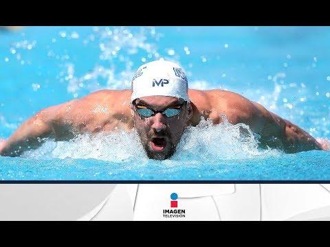 Michael Phelps nada contra un tiburón blanco | Imagen Noticias con Yuriria Sierra