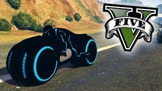 INCREIBLE! MOTO DEL FUTURO!! MOTO DE TRON!! - GTA V PC MODS