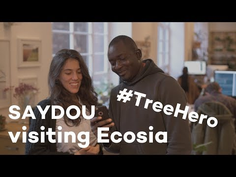 When our tree hero from Burkina Faso visited Ecosia