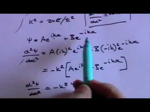 Schrodinger Equation for Free Particle and Particle in a Box Part 1