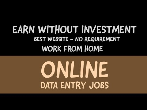 Best Data Entry Job Websites For Beginners 2017