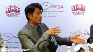 Aaron Kwok Talks Port of Call movie & Eye Glasses in Cantonese HKETO Press Conference NY 2015
