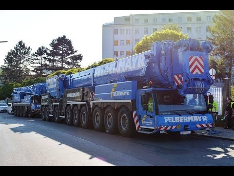 Felbermayr's Liebherr LTM1750-9.1 enters the site