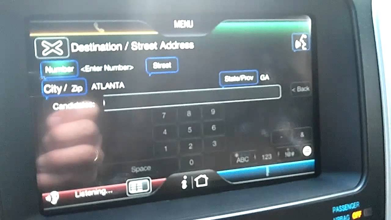 Ford Explorer Navigation Problem