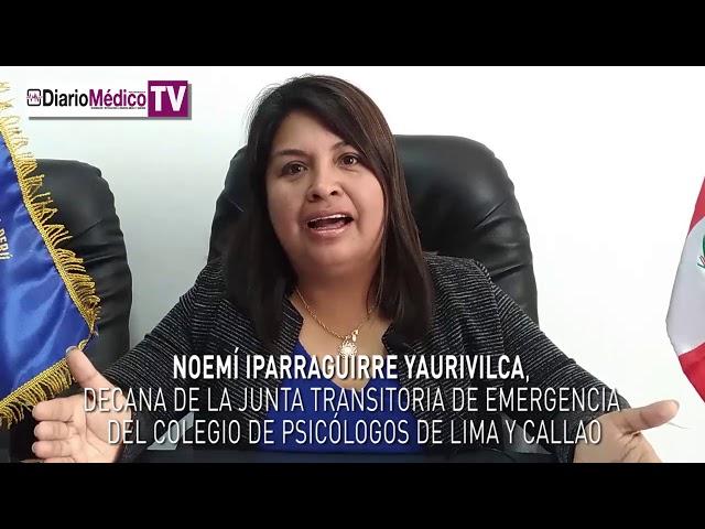 ENTREVISTA A DECANA TRANSITORIA DE COLEGIOS DE PSICÓLOGOS DE LIMA