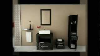 31.5 Libra Small Single Vessel Sink Modern Bathroom Vanity Cabinet Set