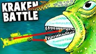 HUGE KRAKEN Boss Battle! SEA MONSTERS vs EPIC SUBMARINE (We Need to Go Deeper NEW update Gameplay)