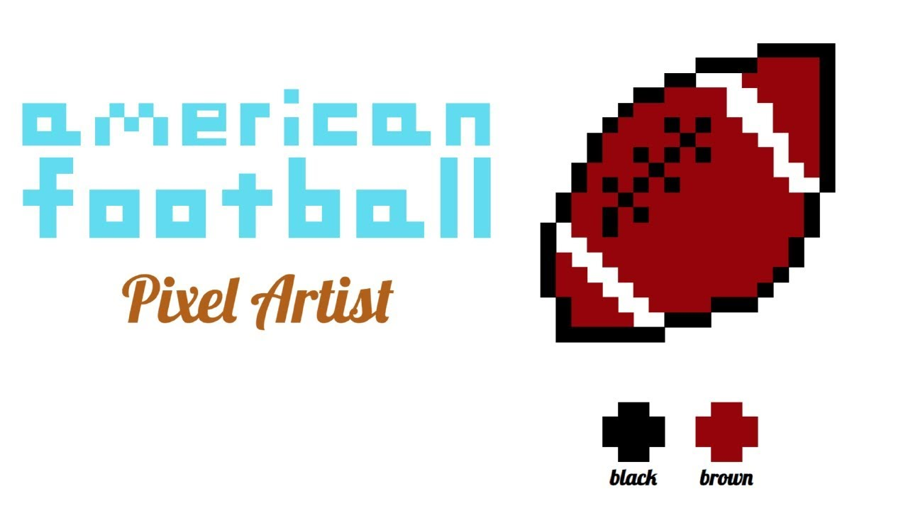 Pixel Art Easyhow To Draw An Americal Football Youtube