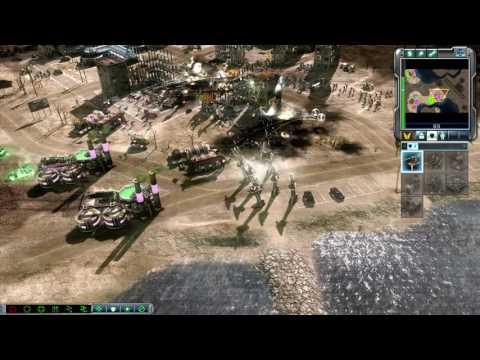 GDI vs Brutal Nod Skirmish   Coastline Chaos   Command & Conquer 3: Tiberium Wars Gameplay