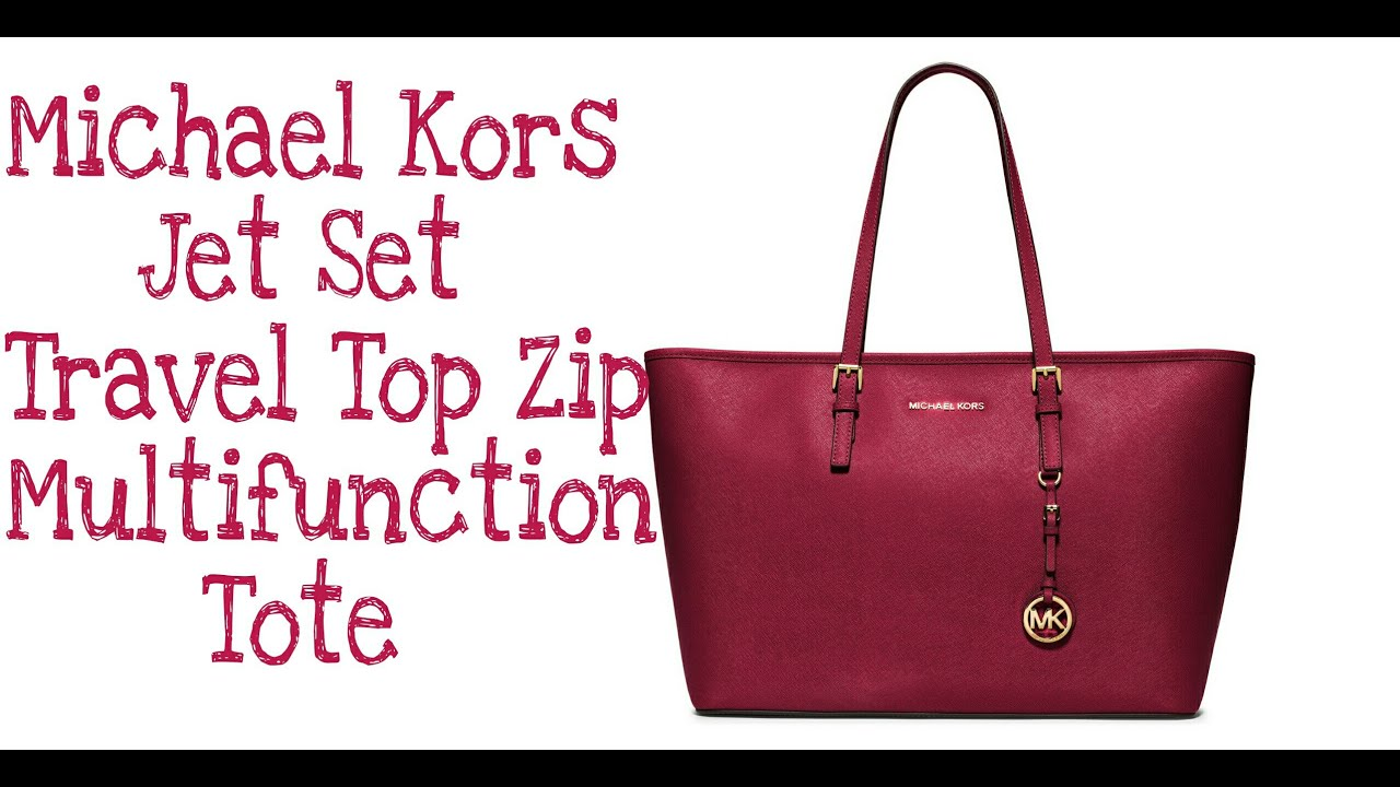 bc525882 Michael Kors Jet Set Travel top Zip Multifunction Tote | Bag Review ...
