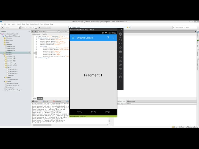 Xamarin Android Tutorial   55   Fragments