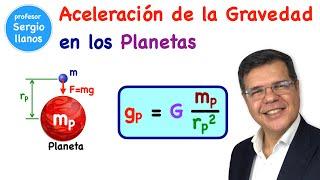 Aceleración de la gravedad en los planetas - Acceleration of gravity on the planets