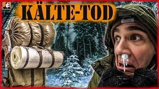 """""""Survival Mattin"""" überlebt EXTREM kalte WINTER-HORROR-NACHT mit BILLIG Ausrüstung nur knapp."""