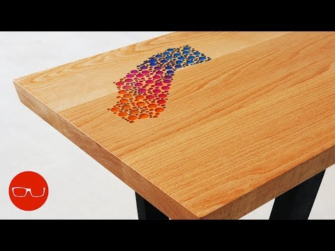"Epoxy Inlay Coffee Table - ""The California Table"""