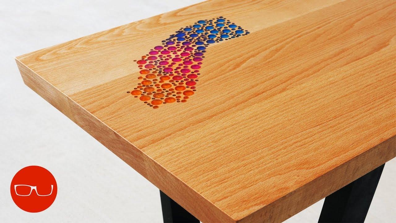 Epoxy Inlay Coffee Table The California Table Youtube
