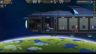 Let's Play!: Starbound 1.0: Ep7: Exploring a Forest Planet (Scanning a Floran Town)