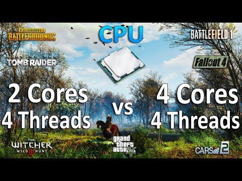 4 Threads vs 4 Cores CPU Test in 7 Games