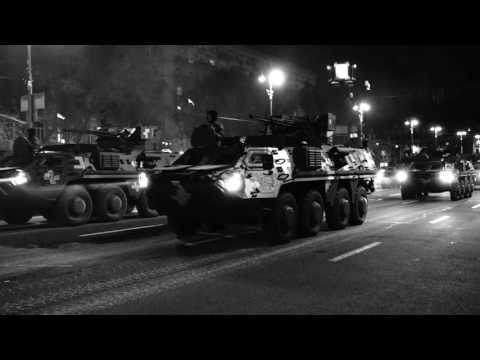 Kiev, Ukraine: Independence Day Parade (dress rehearsal)