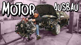 Er kommt wieder raus! Motorausbau an der RS4 Limo | Philipp Kaess |