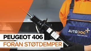 Hvordan bytte Fremre støtdemper på PEUGEOT 406 BRUKSANVISNING | AUTODOC