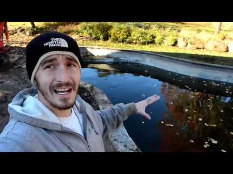 Turning A Pool Into A Pond| Part 1 Ground Water Issue/Demo