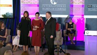 Մելանյա Թրամփը «Խիզախ կին» մրցանակ հանձնեց Լյուսի Քոչարյանին