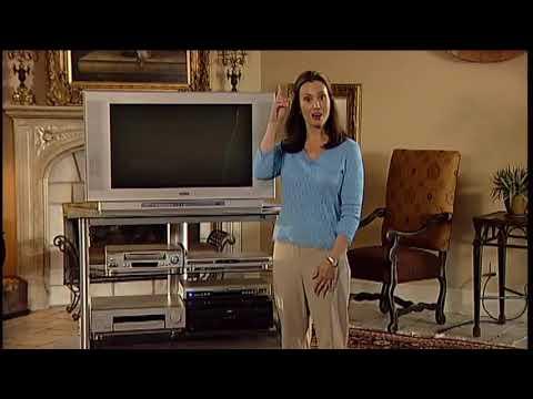 Sanyo HD CRT T.V. setup DVD