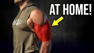 How to Get BIGGER ARMS At Home! (DUMBBELL ONLY BICEPS AND TRICEPS WORKOUT!!)