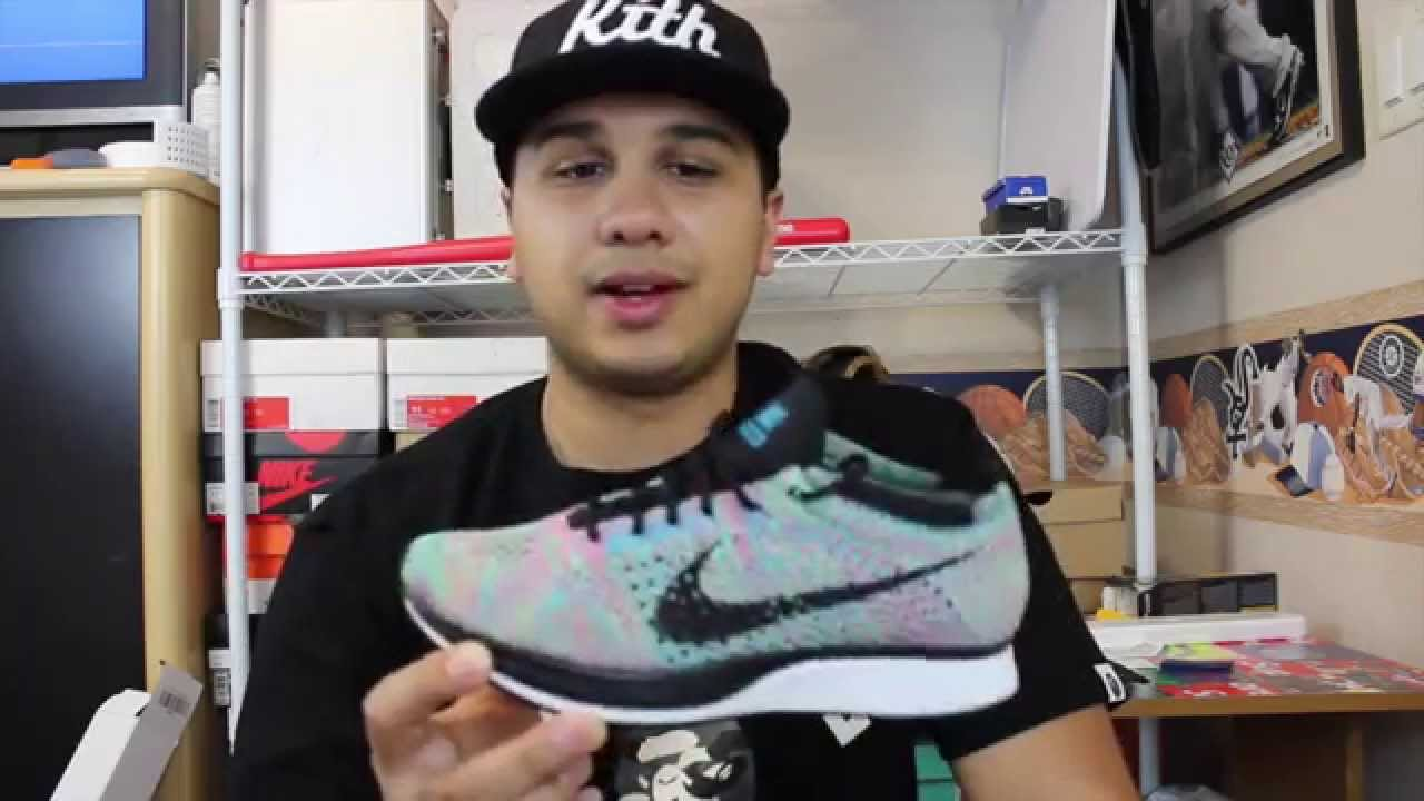 bb2187e25c73c Nike Flyknit Racer Multicolor 2.0 Rainbow Review - YouTube