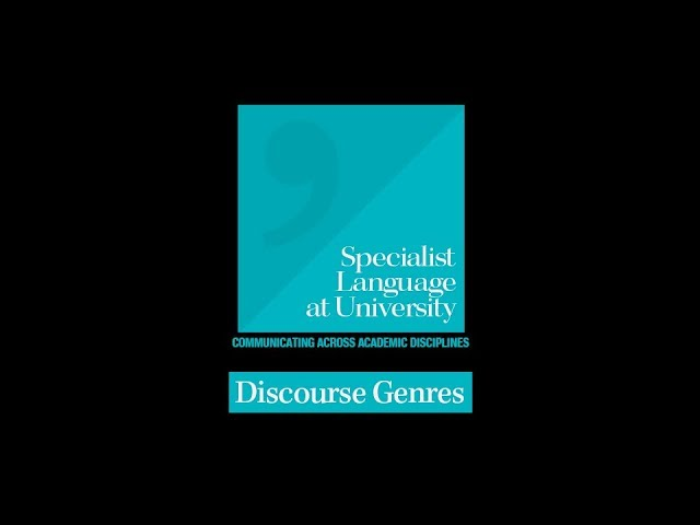Discourse Genres
