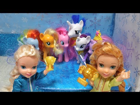 Thumbnail: Elsa and Anna toddlers are judges at My little Pony song contest with the Disney princesses