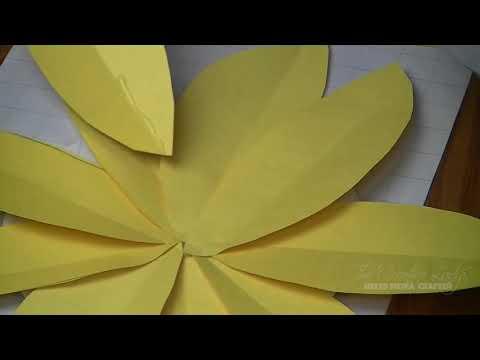 DIY - Jumbo Paper Sunflowers | #LetsCreate