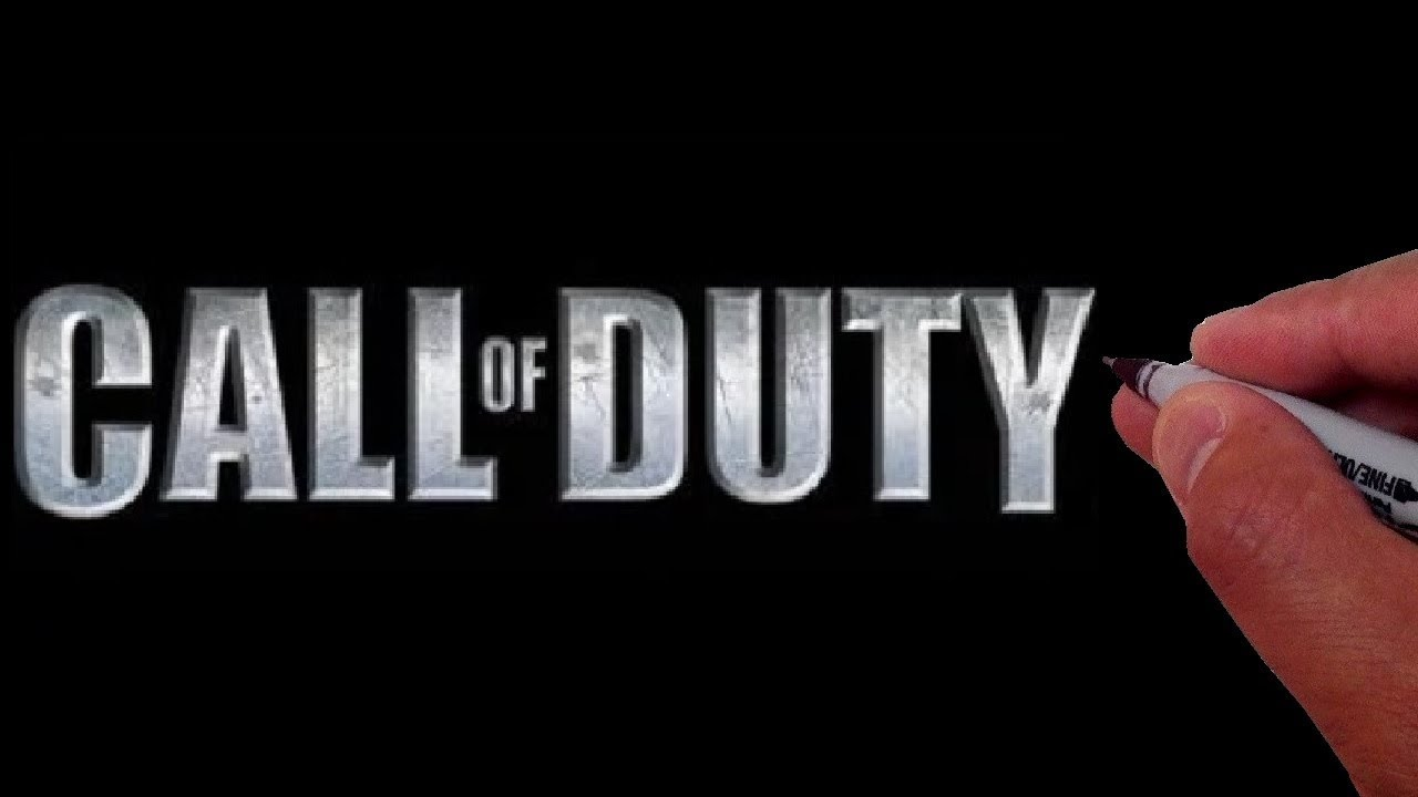 How To Draw The Call Of Duty Logo Youtube
