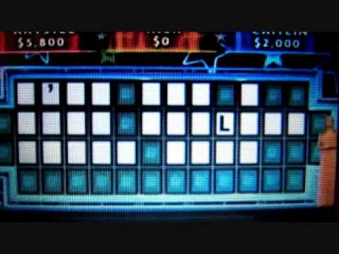 Wheel of Fortune Amazing solve with only one letter   YouTube