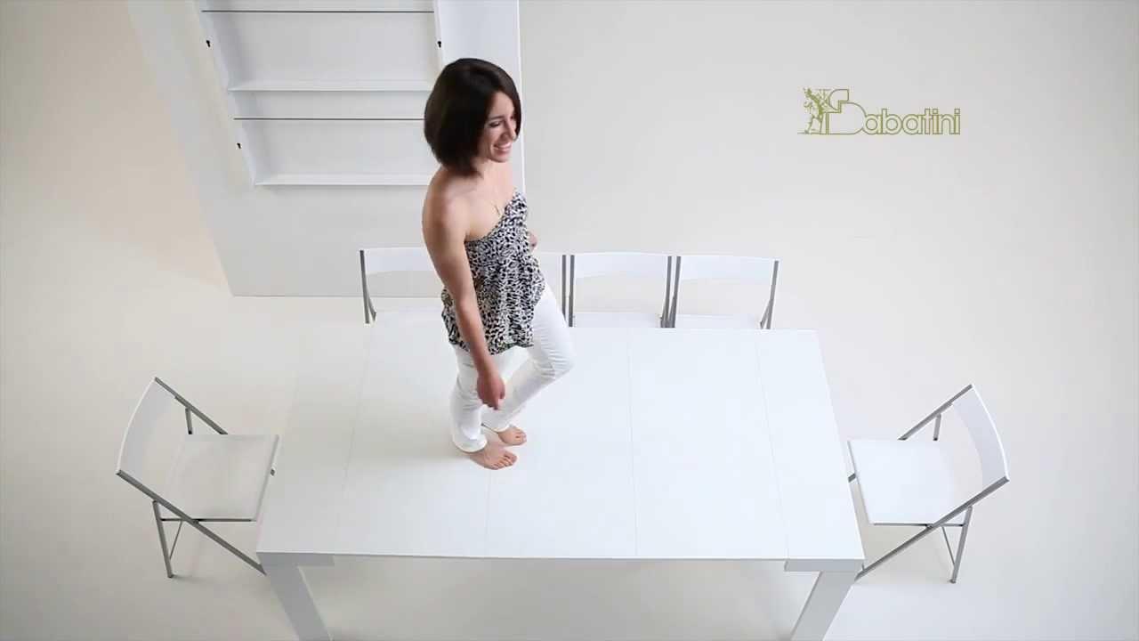 sabatini srl .... consolle con prolunghe e sedie riposte in parete ... - Tavolo Allungabile Con Sedie