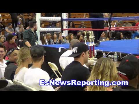 boxer & rapper Lil Za Fight highlights KO High Justin Bieber In House