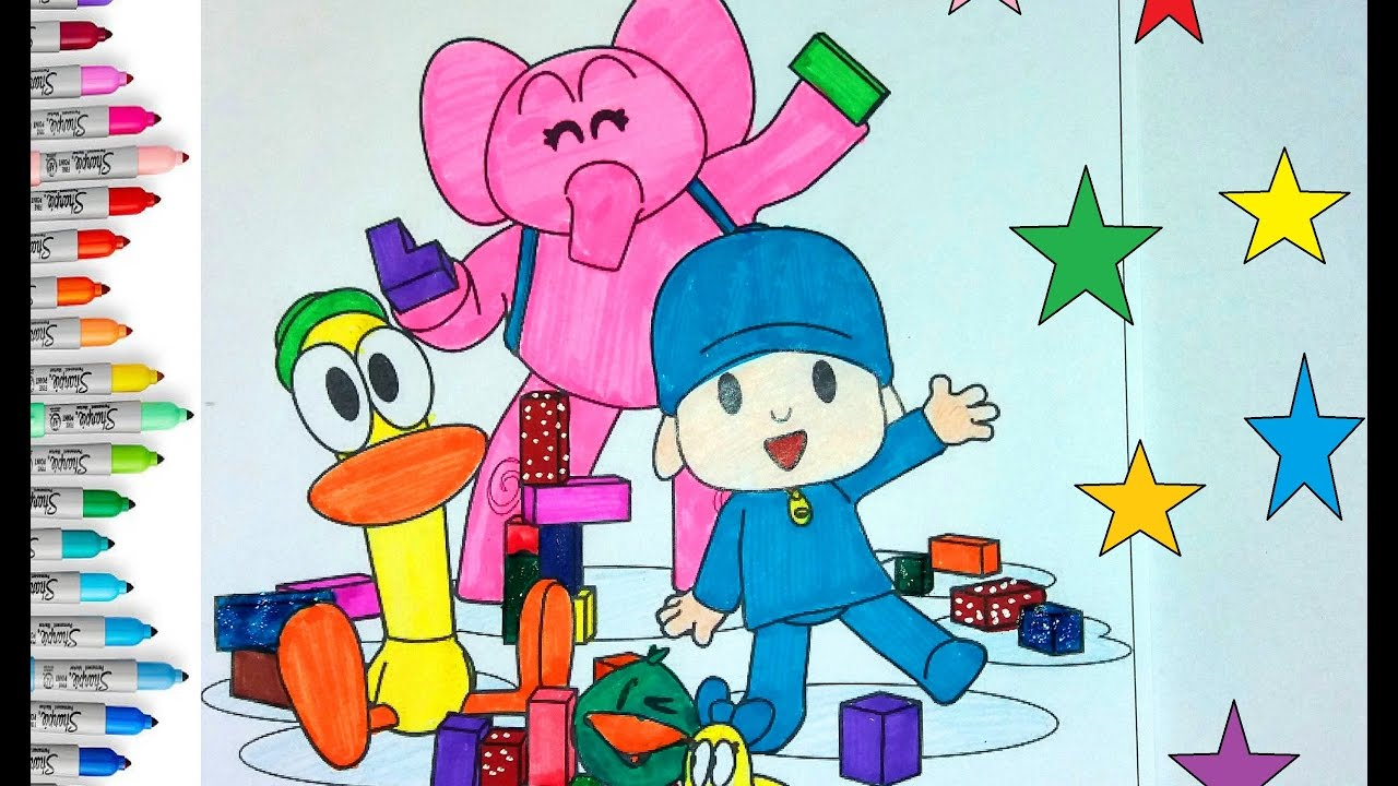 POCOYO and Friends Coloring Pages For Children | Coloring Book ...