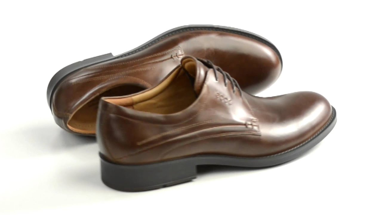ECCO Birmingham Oxford Shoes - Leather (For Men) - YouTube ab2ee08f4592