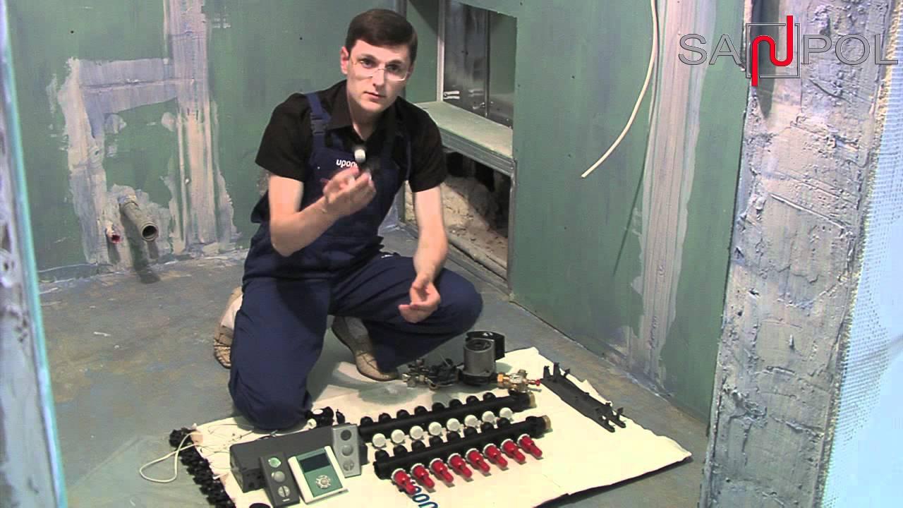 схема модульный пластиковый коллектор uponor