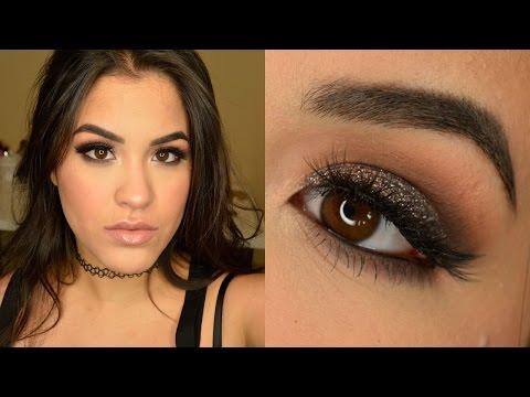 GLAM NYE DRUGSTORE Glitter Makeup Tutorial   Valentina Martinez